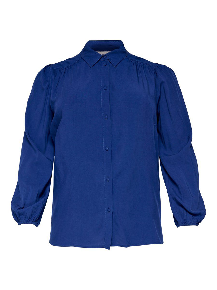 Only Curvy Loose Fit Overhemd Dames Blauw