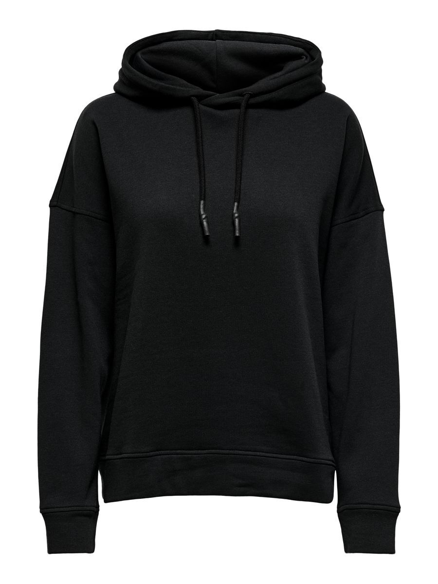 Only Loose Fitted Hoodie Dames Zwart