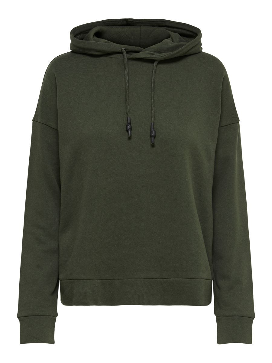 Only Loose Fitted Hoodie Dames Green