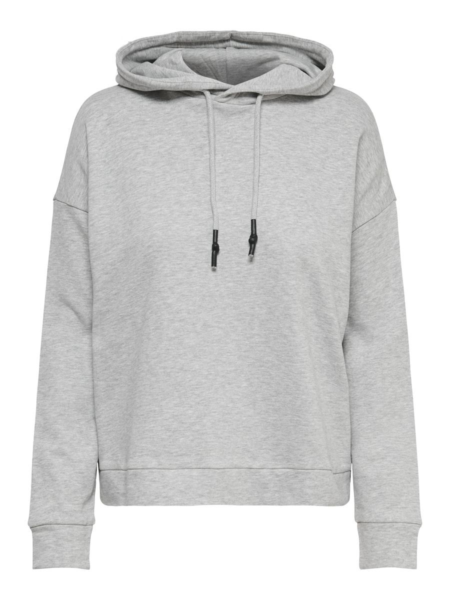 Only Loose Fitted Hoodie Dames Grijs
