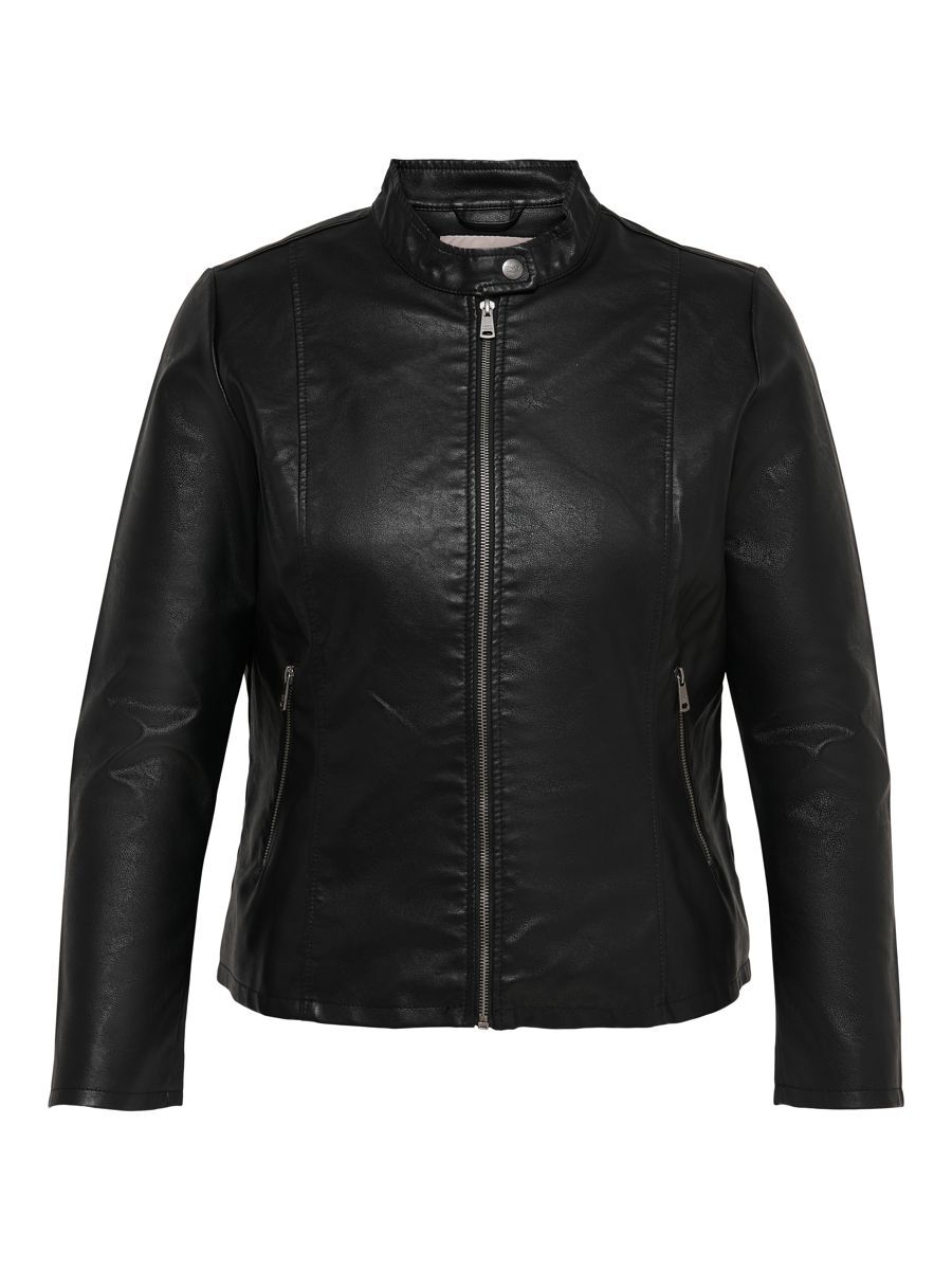 Only Curvy Leatherlook Imitatieleren Jack Dames Zwart