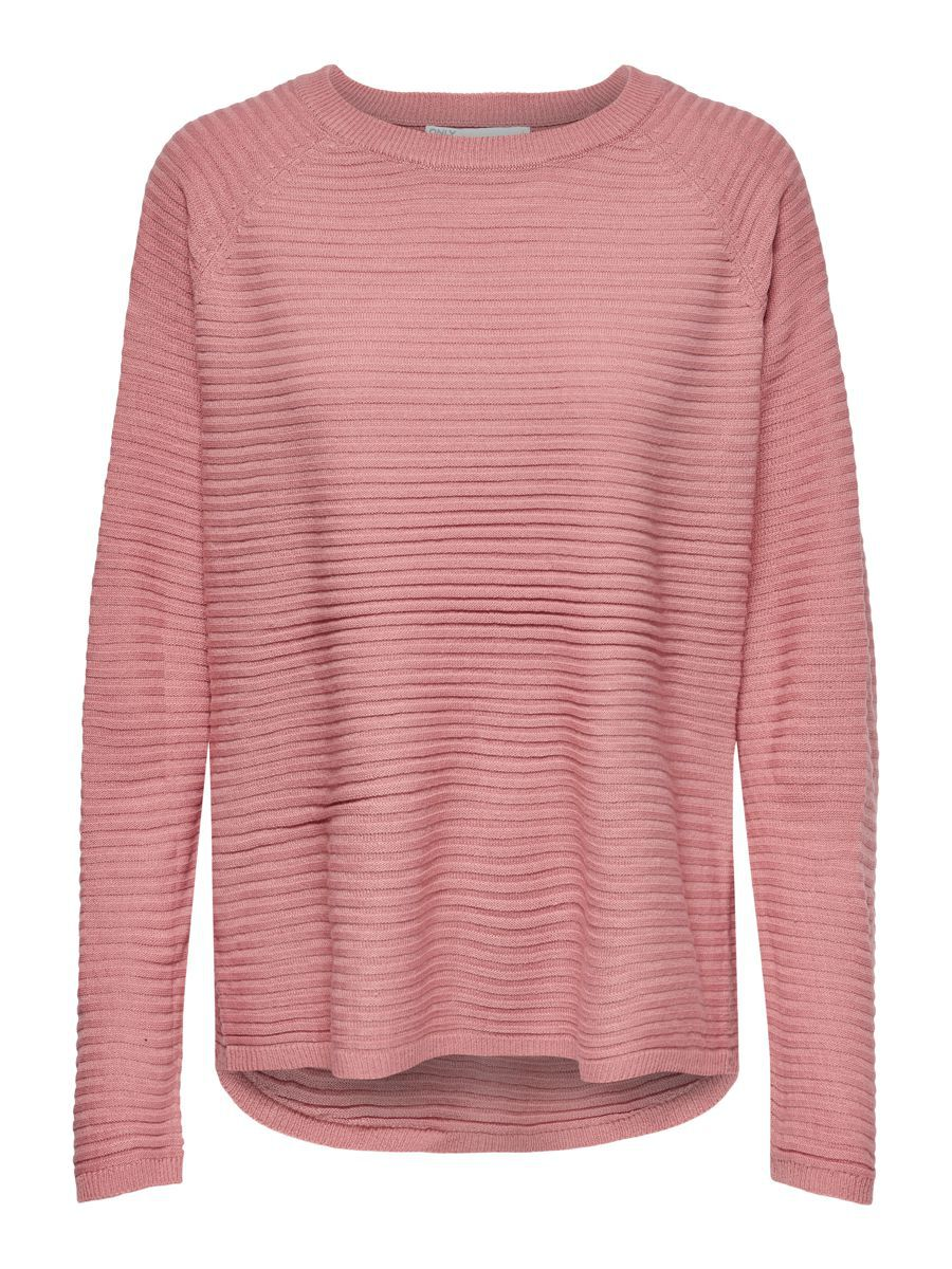 ONLY Texture Knitted Pullover Dames Roze