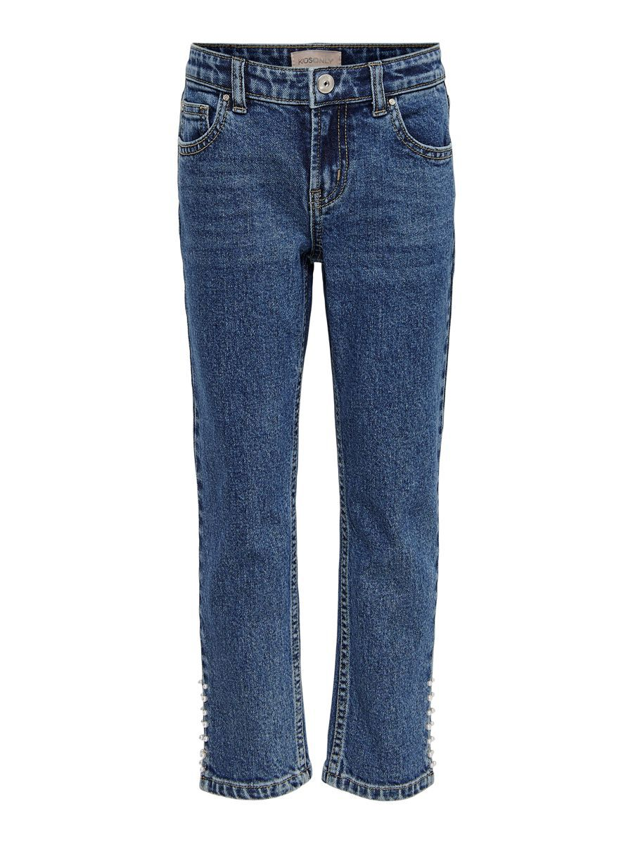 Only Konemily Life Hw Straight Fit Jeans Dames Blauw