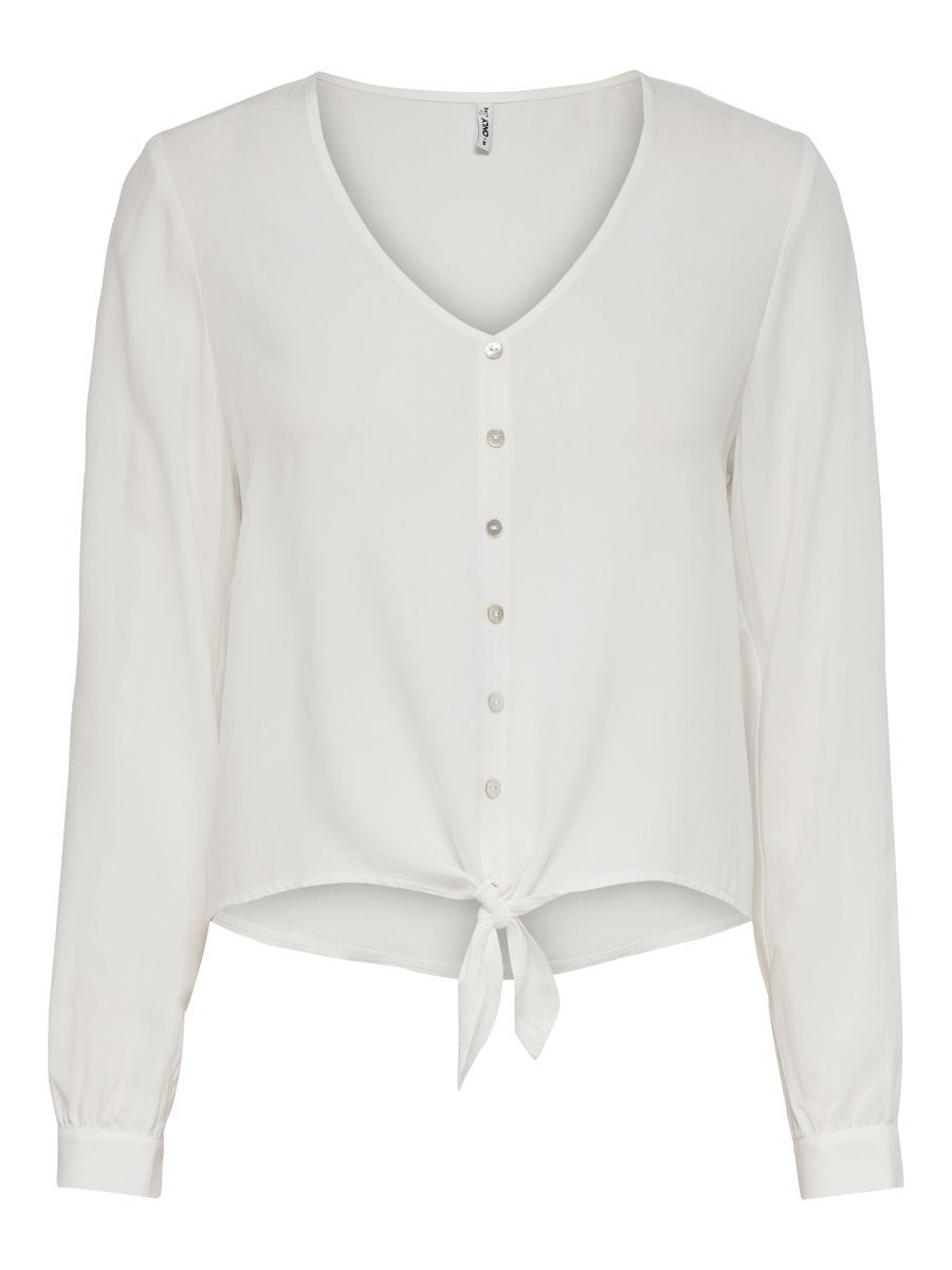 ONLY Knoopdetail Overhemd Dames White