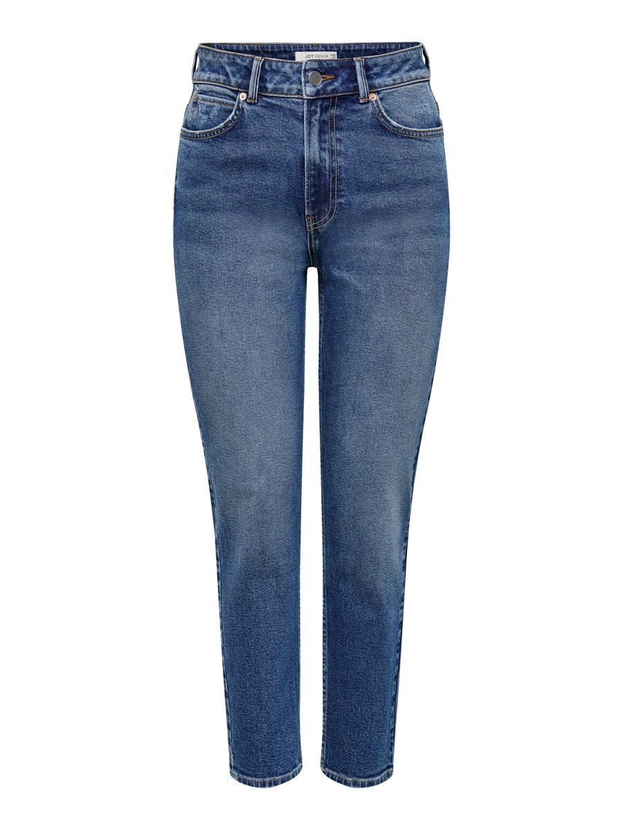 Only Jdykaja Life Hw Ankle Straight Fit Jeans Dames Blauw