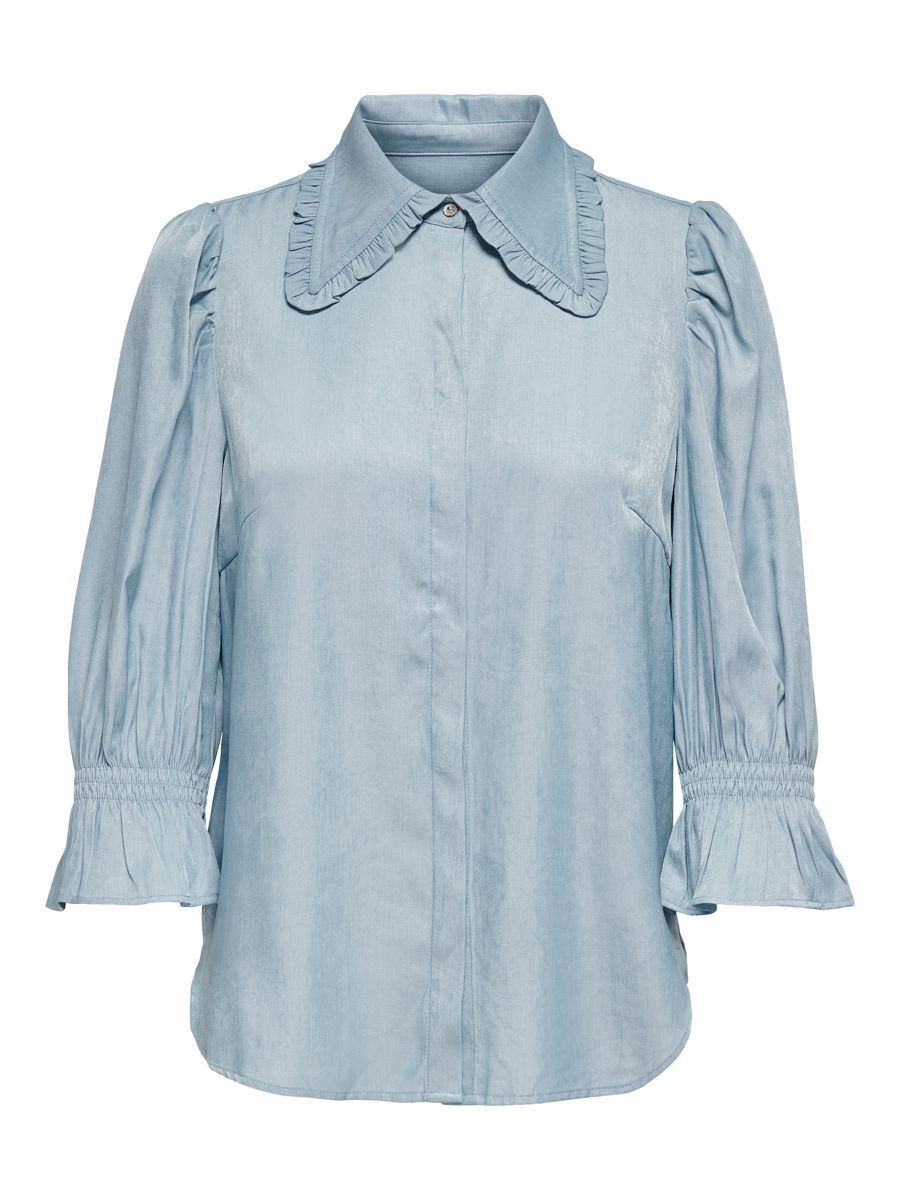 ONLY Manches Bouffantes Chemise Women Blue