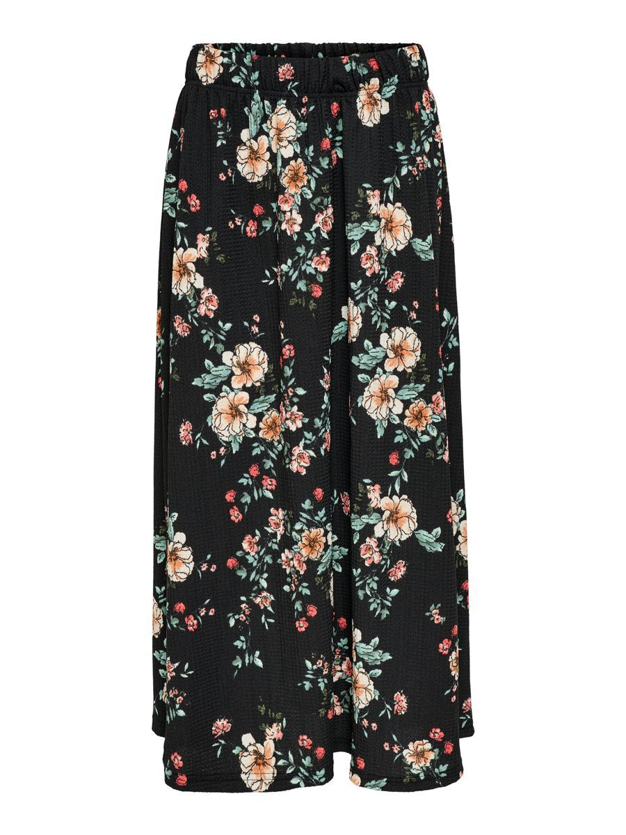 Only Solid Colored Maxi Skirt Dames Zwart