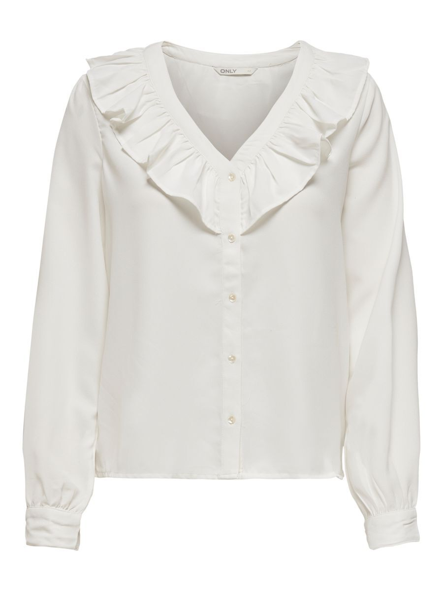 Only Frill Shirt Dames White