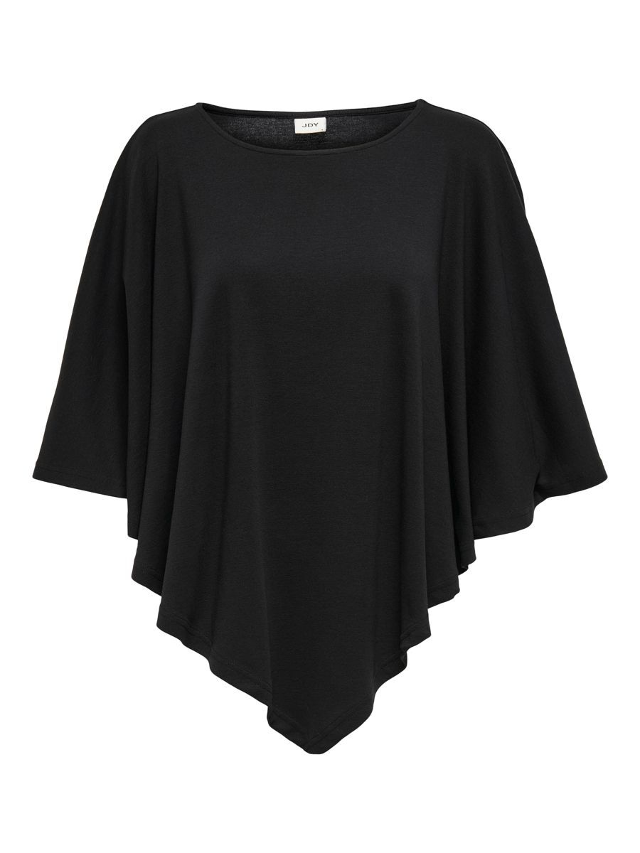 Only Jersey Poncho Dames Zwart