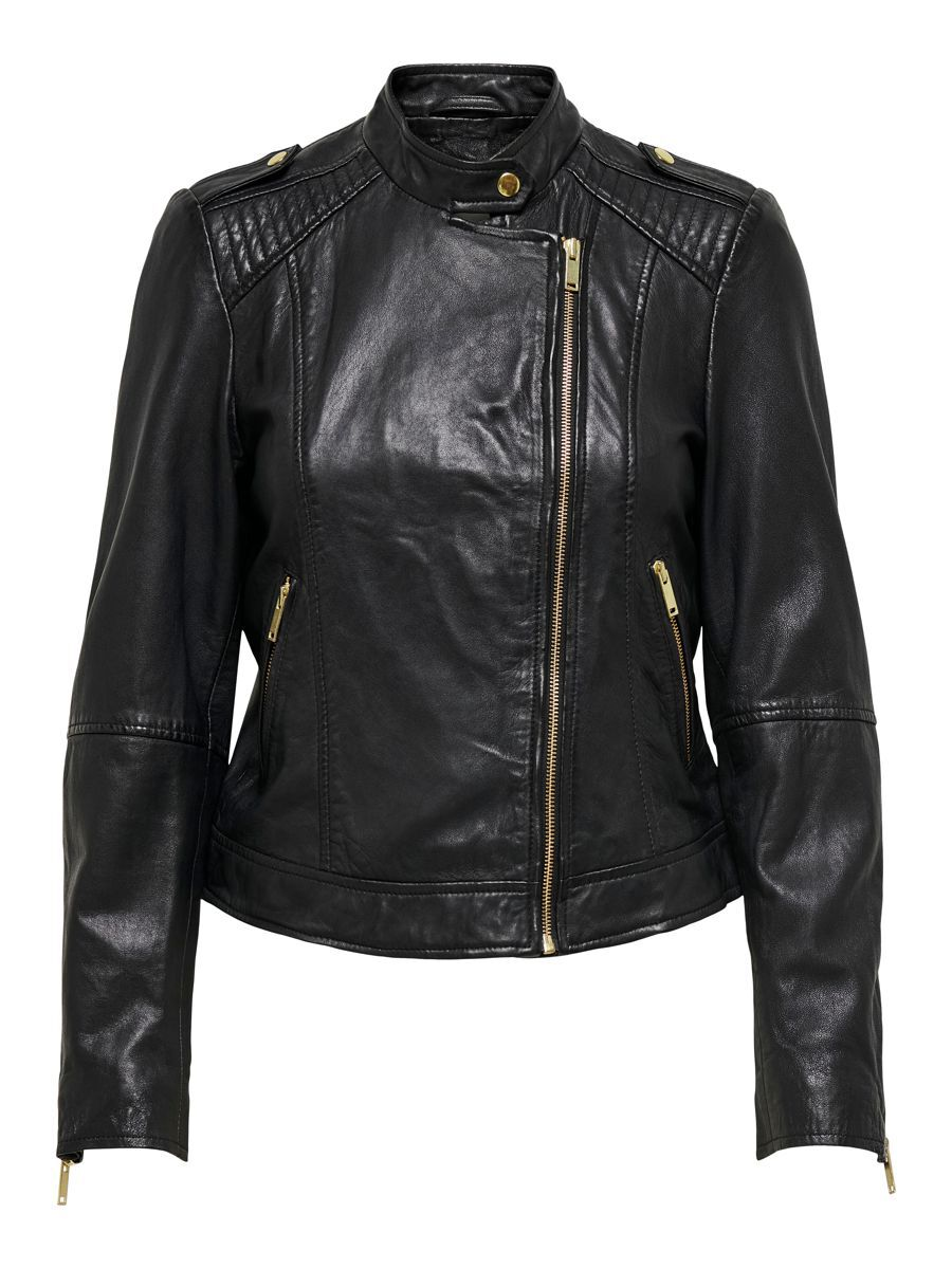 Only Biker Faux Leather Jacket Dames Zwart