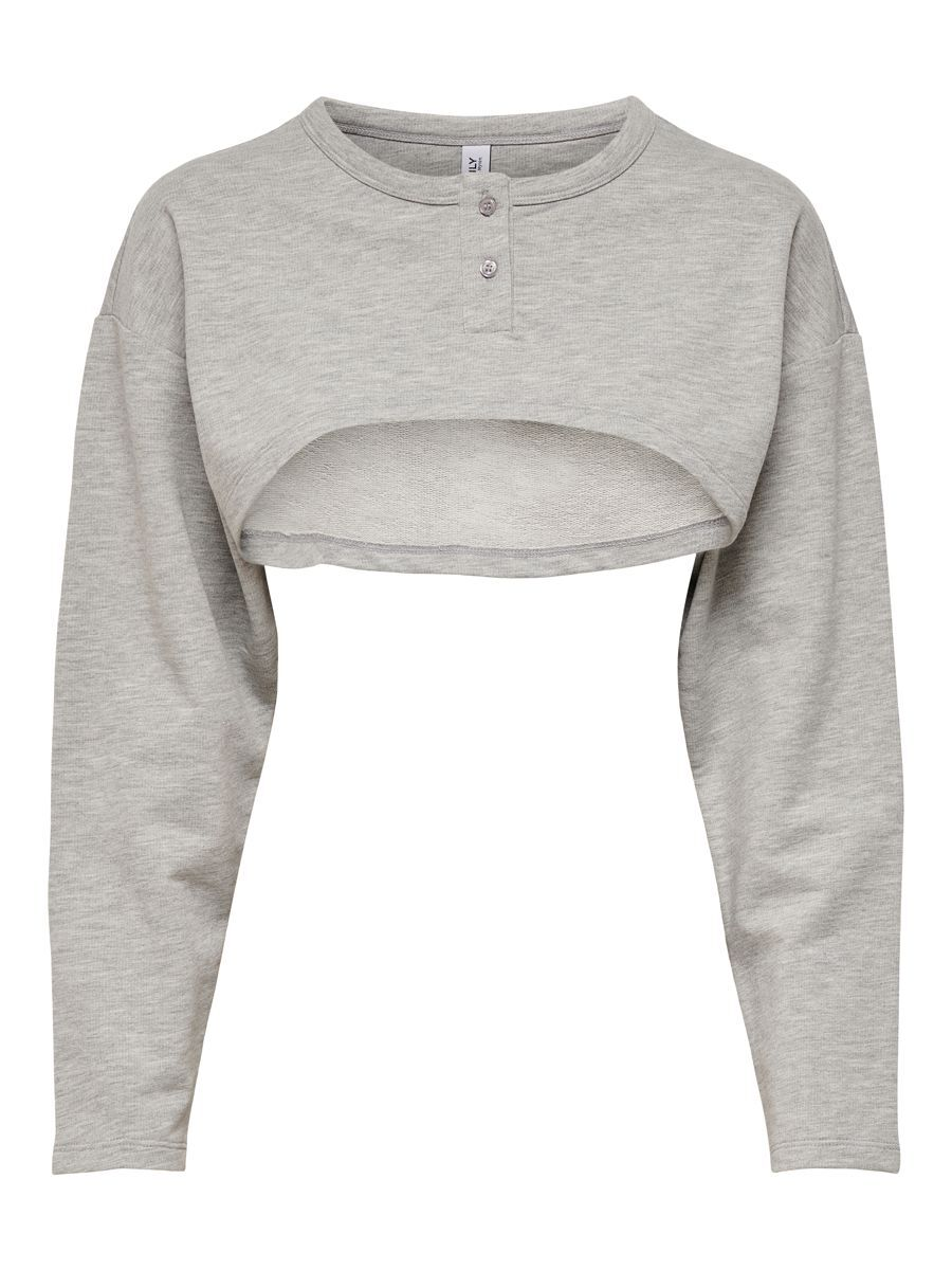 ONLY Detailed Sweatshirt Dames Grijs