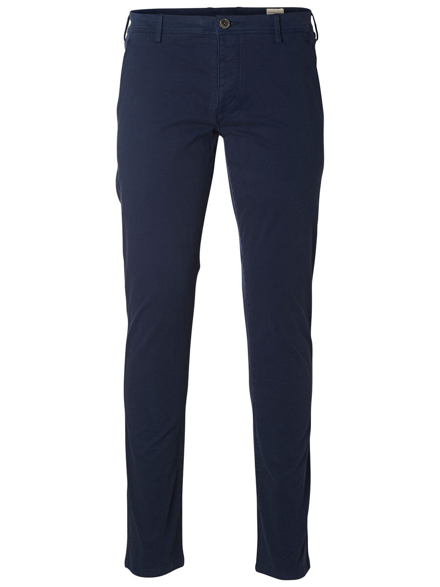 SELECTED Slhluca Skinny Fit - Chino Herren Blau | Bekleidung > Hosen > Chinohosen | SELECTED