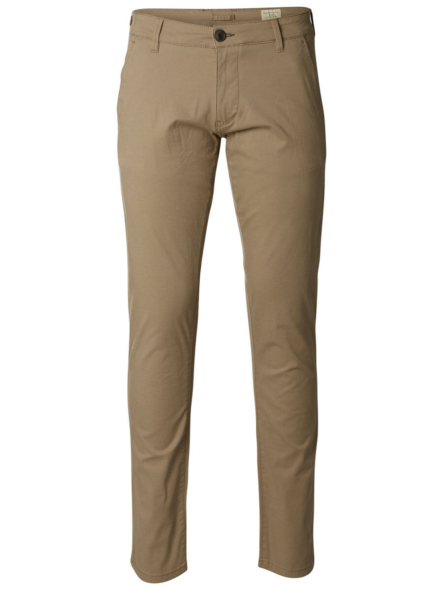 SELECTED Slhparis Regular Fit - Chino Herren Beige | Bekleidung > Hosen > Chinohosen | Selected