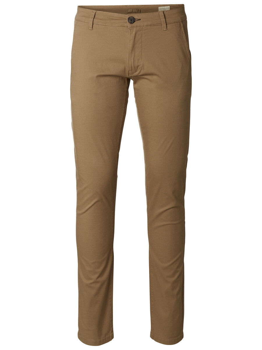 SELECTED Slhparis Regular Fit - Chino Herren Braun | Bekleidung > Hosen > Chinohosen | Selected
