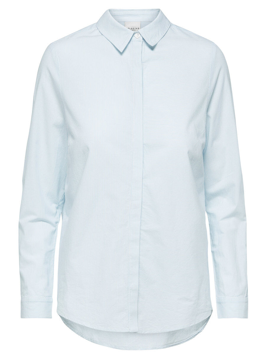 SELECTED Bio-baumwoll - Hemd Damen Blue| Pastel | Bekleidung > Blusen > Hemdblusen | Skyway | SELECTED