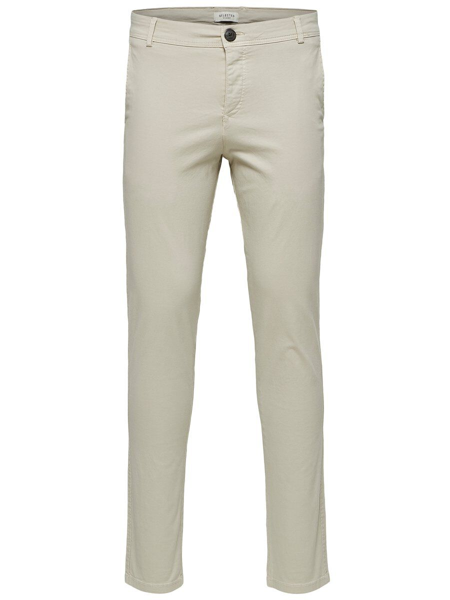 SELECTED Slhluca Skinny Fit - Chino Herren Beige | Bekleidung > Hosen > Chinohosen | Silver lining | SELECTED