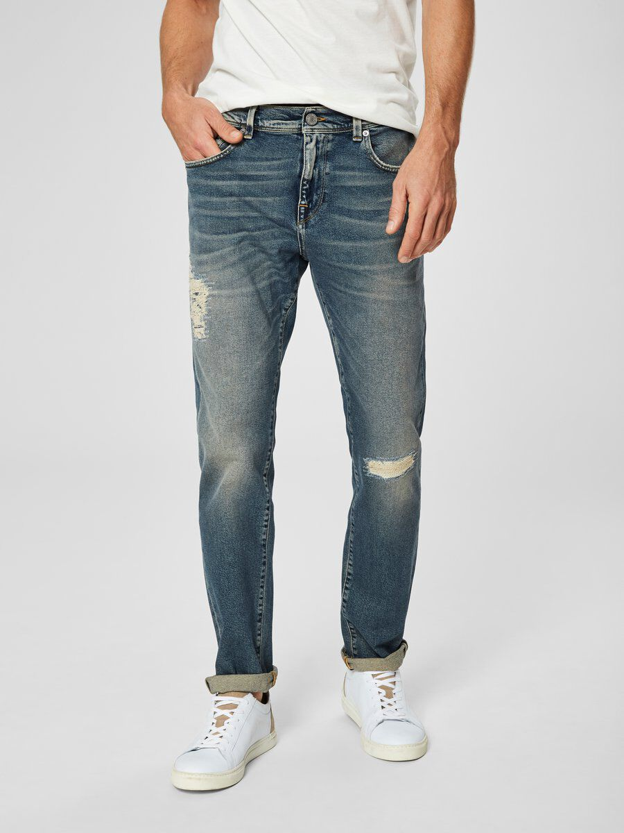 Bilde av SELECTED 1467 - Slim Fit Jeans Men Blue