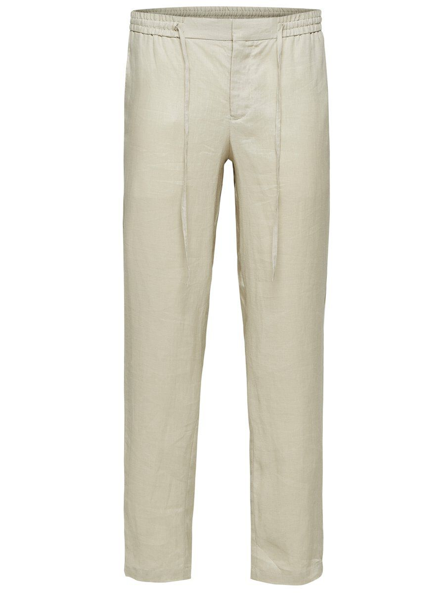 SELECTED Tapered Fit Leinen Hose Herren White | Bekleidung > Hosen > Sonstige Hosen | Peyote | SELECTED