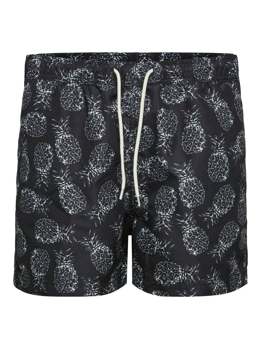 SELECTED Imprimé - Short De Bain Men black