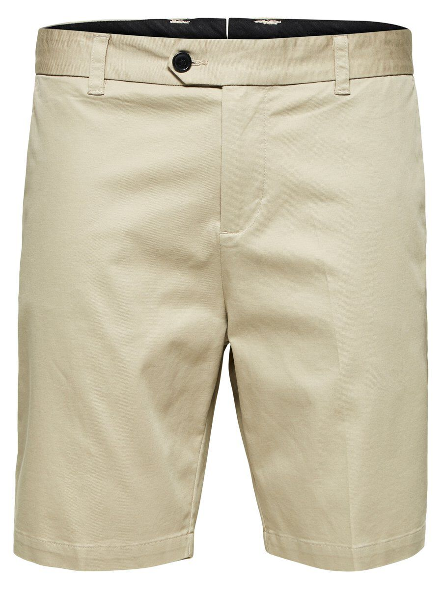 SELECTED Tapered Fit Shorts Herren Beige | Bekleidung > Shorts & Bermudas | Plaza taupe | SELECTED