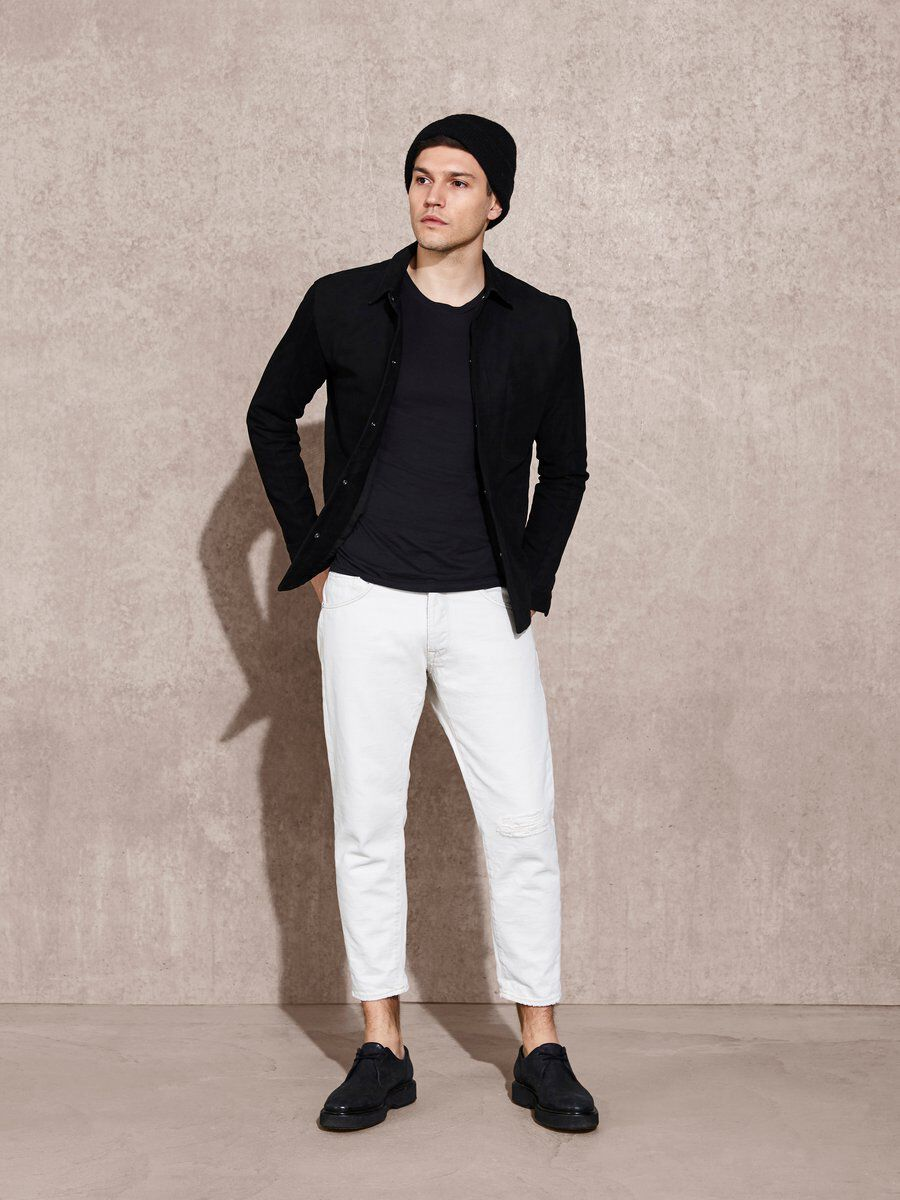 Bilde av SELECTED 1470 - Cropped Jeans Men White