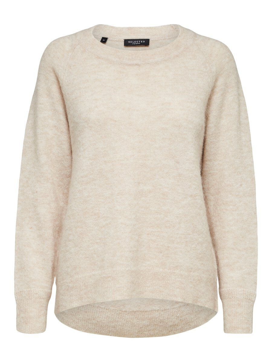 SELECTED Laine Col Ras-du-cou - Pull Women beige