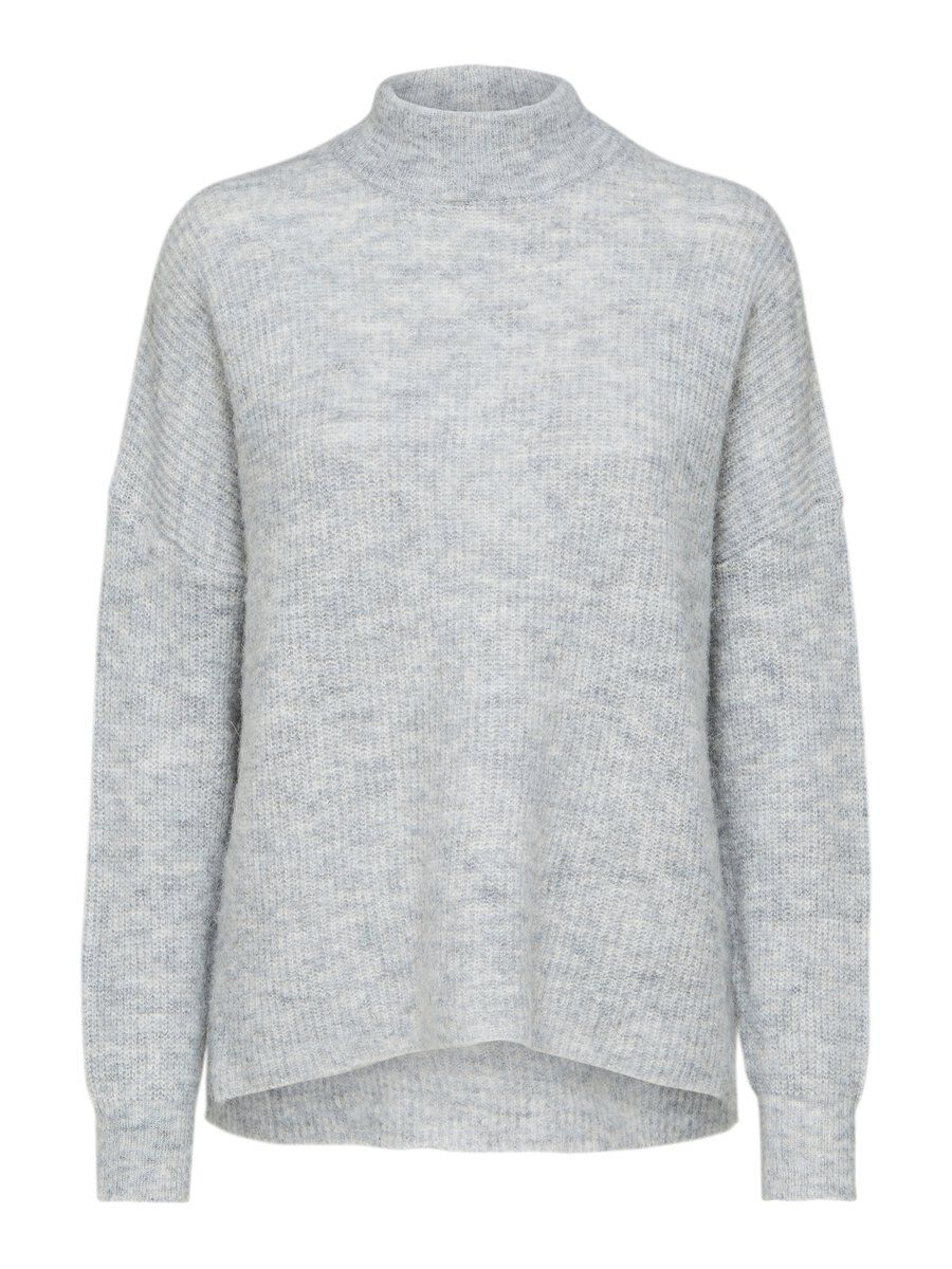 SELECTED Laine Col Ras-du-cou - Pull Women grey