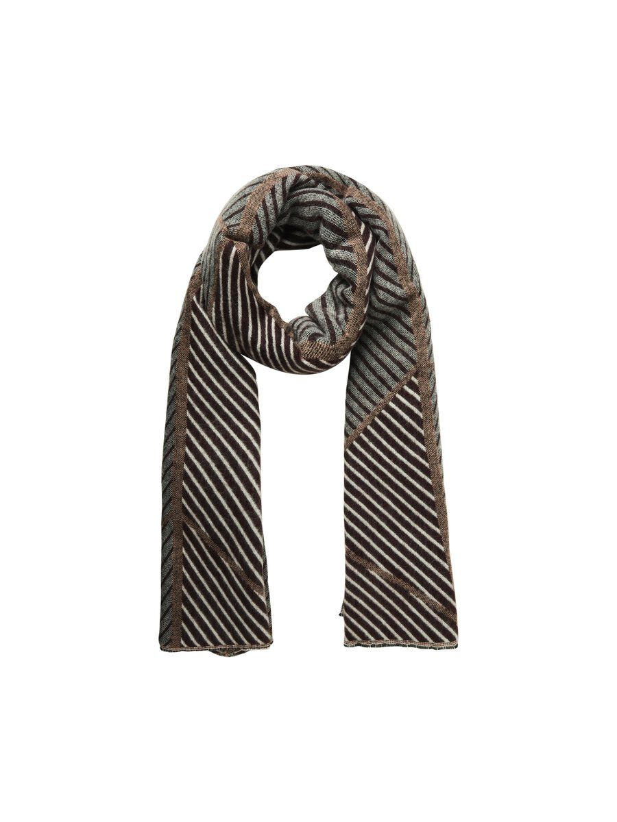 PIECES Chevrons Foulard Long Women Red