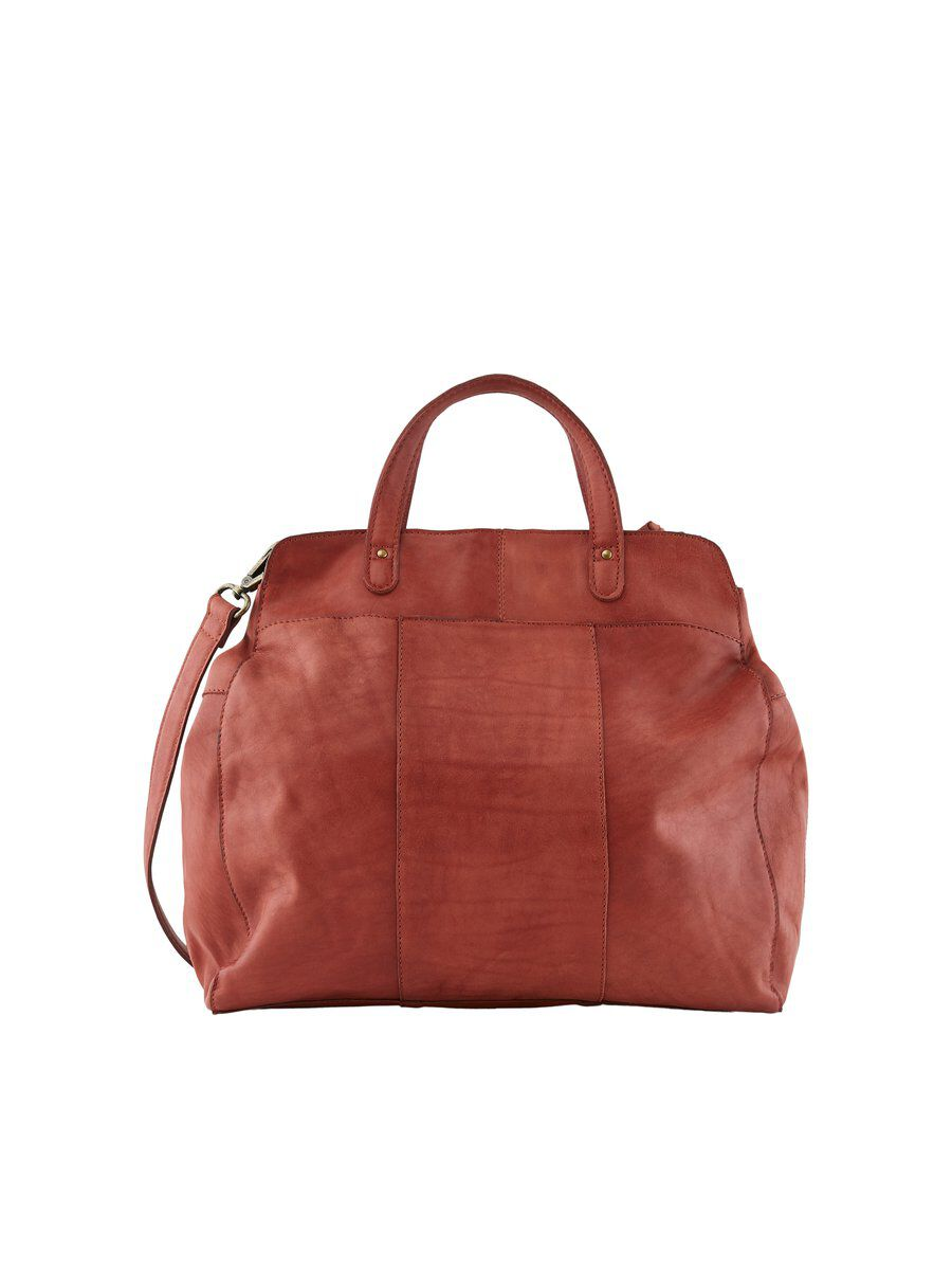 PIECES Leather Bag Women Red