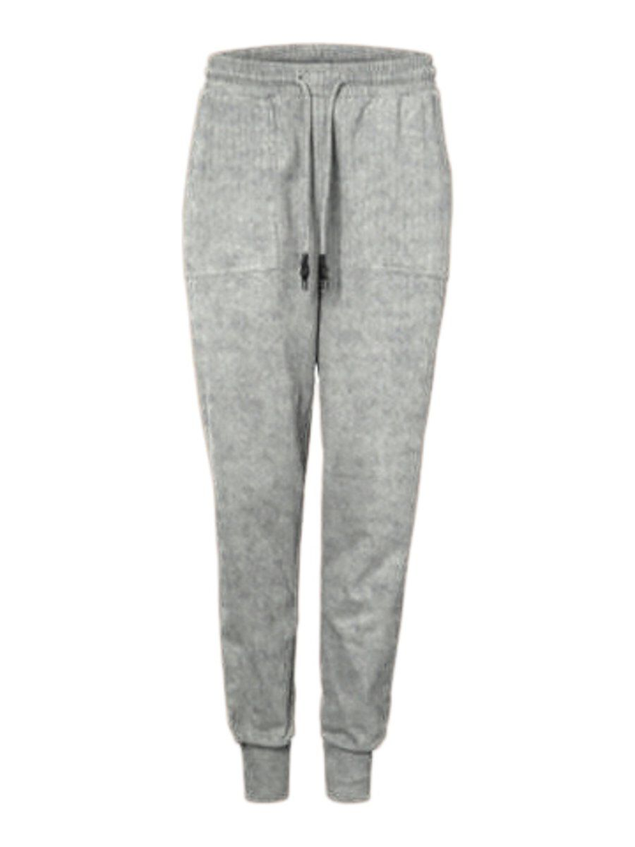 Image of PIECES 100% Cotton Joggers Women Grey
