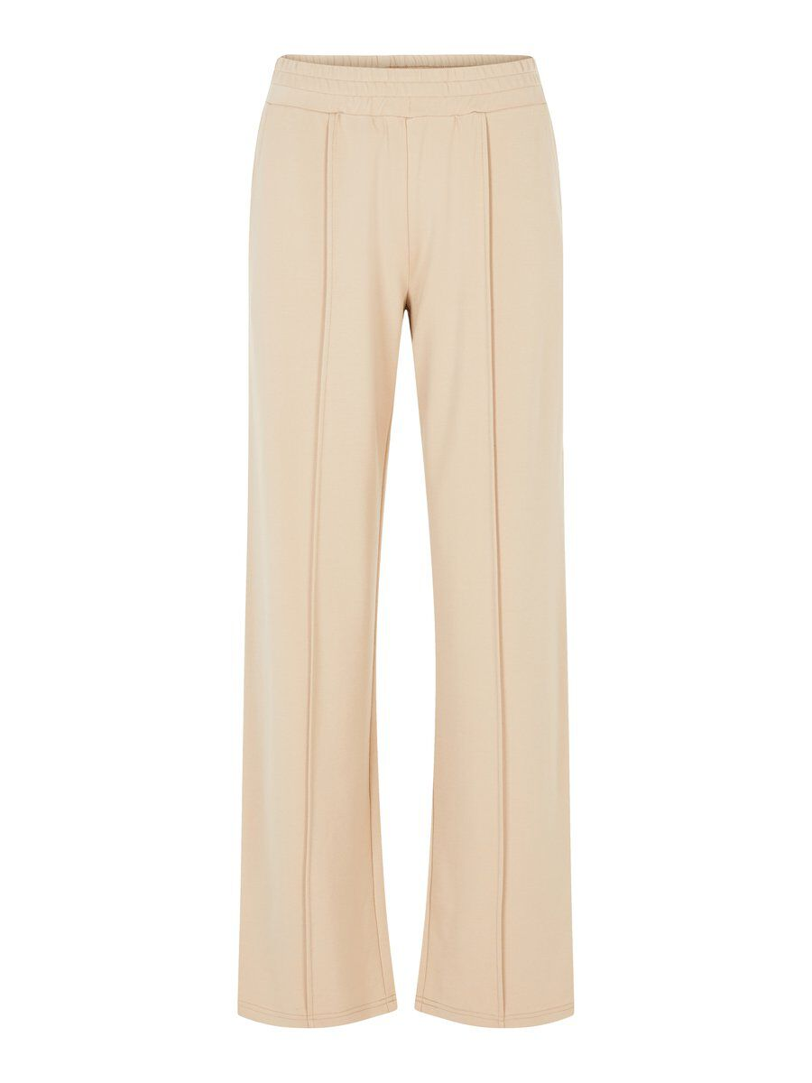 PIECES Pleated Trousers Women Brown