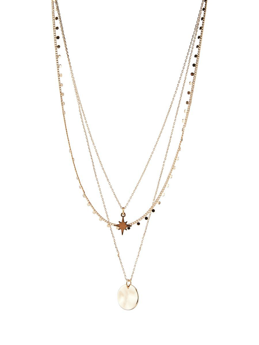 pieces 3-in-1 Chain Necklace Dames Goud