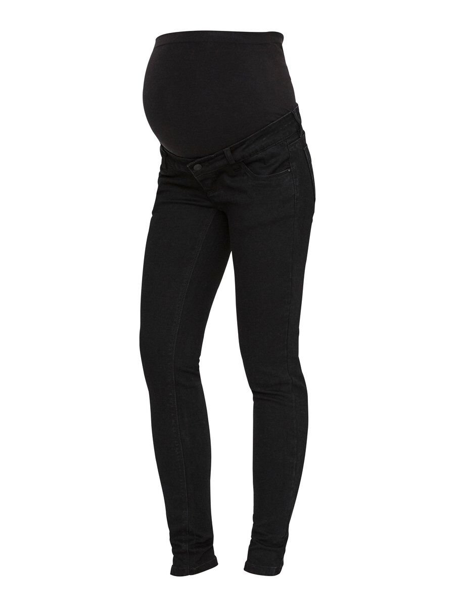MAMA.LICIOUS Slim Fit Maternity Jeans Women Black