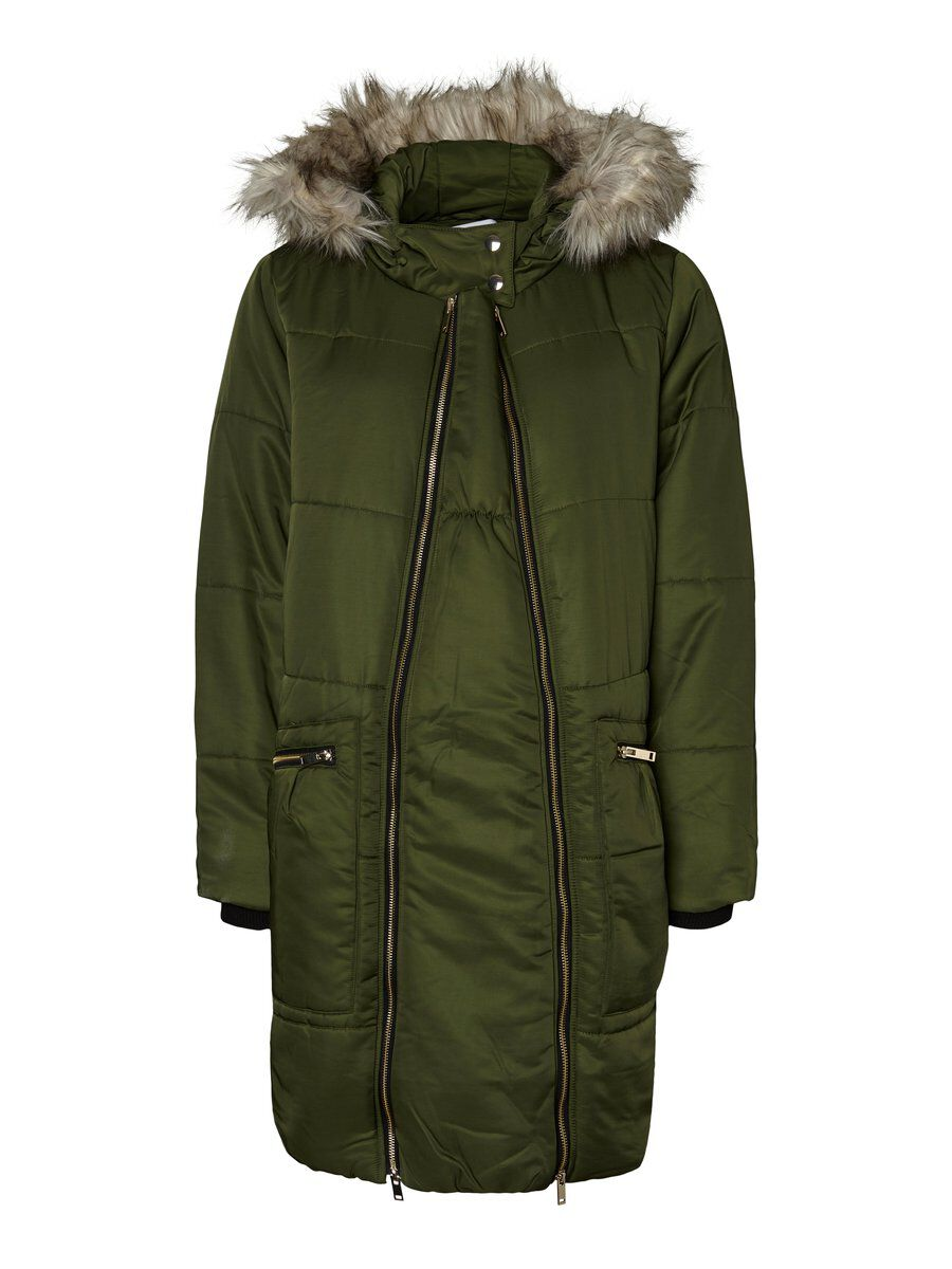 MAMA.LICIOUS 2-i-1 Padded Maternity Coat Women Green
