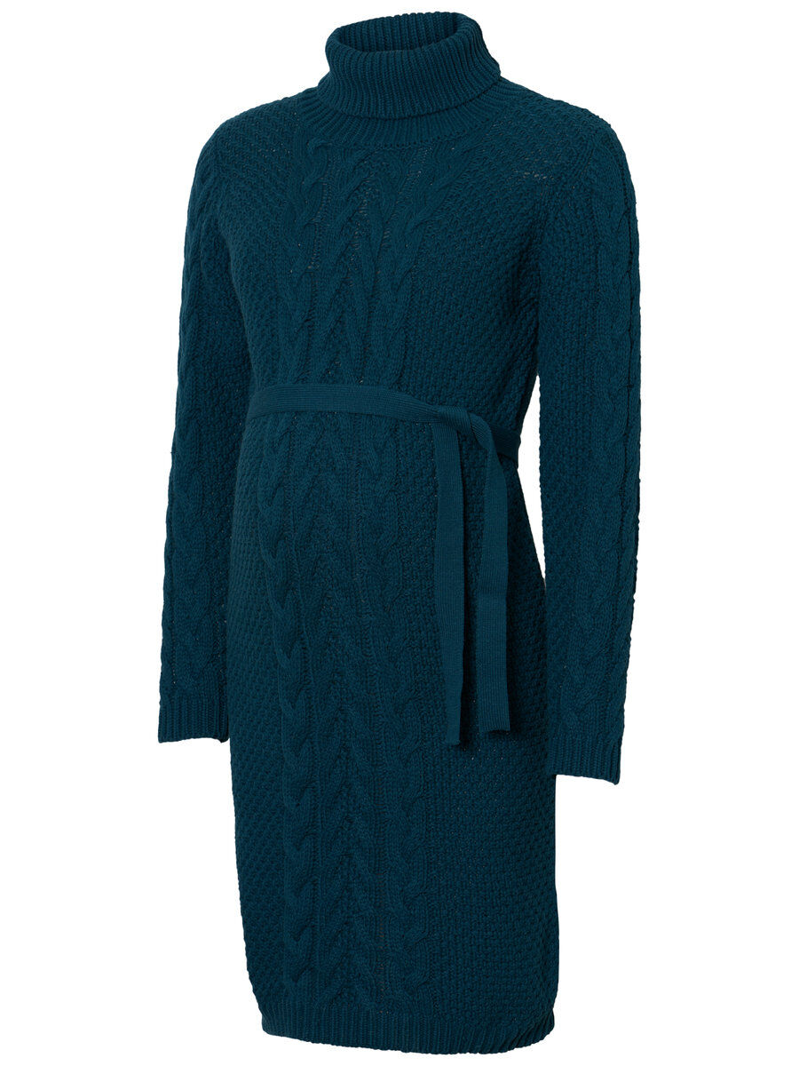 MAMA.LICIOUS Cable Knitted Maternity Dress Women Blue
