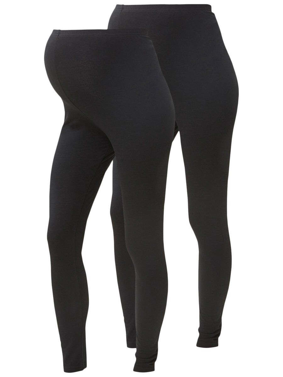MAMA.LICIOUS 2-pack Jersey Maternity Leggings Women Black