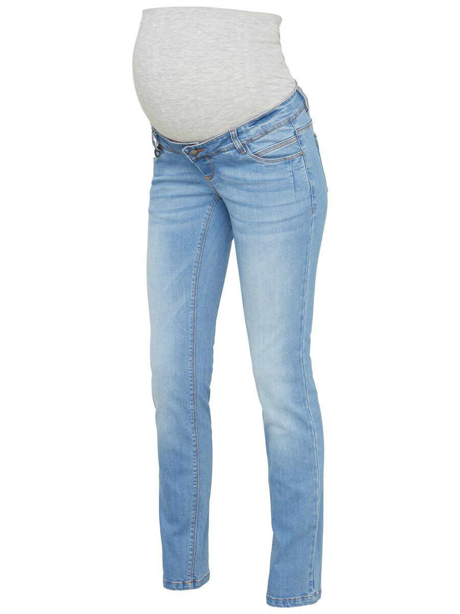 MAMA.LICIOUS Straight Fit Maternity Jeans Women Blue