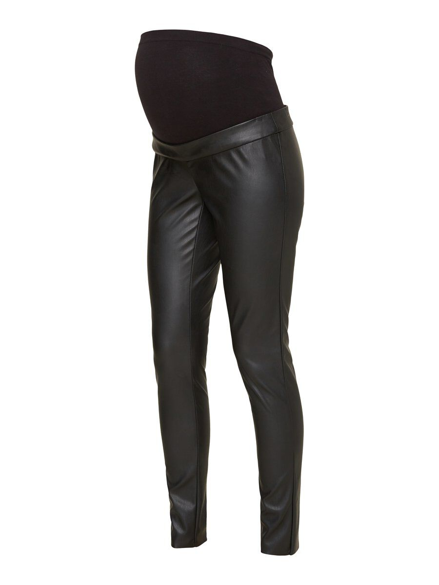 Faux leather maternity trousers, mama.licious