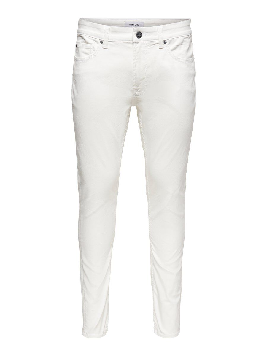 Only & Sons Onswarp Witte Skinny Jeans Heren White