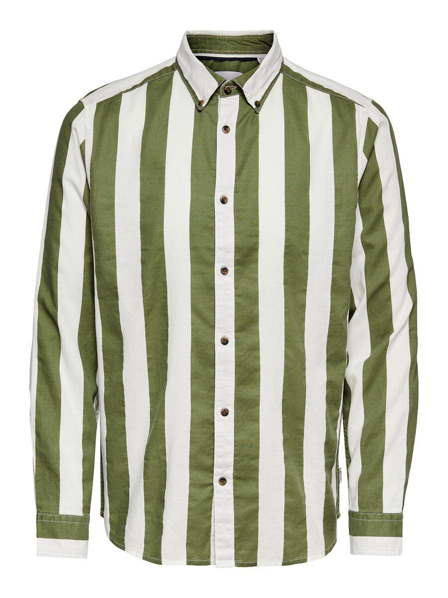 ONLY & SONS Rayures Chemise Men green