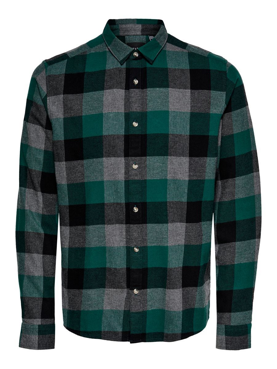 ONLY & SONS Carreaux Chemise Men green
