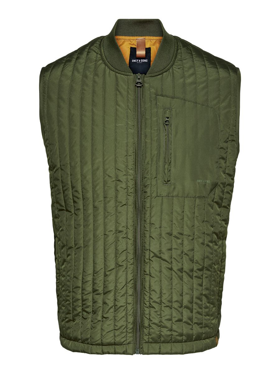 Only & Sons Gewatteerd Gilet Heren Green