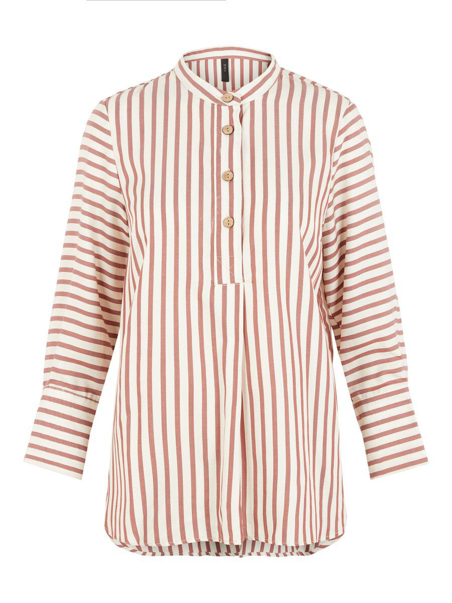Y.A.S Rayures Chemise À Manches Longues Women Red; White