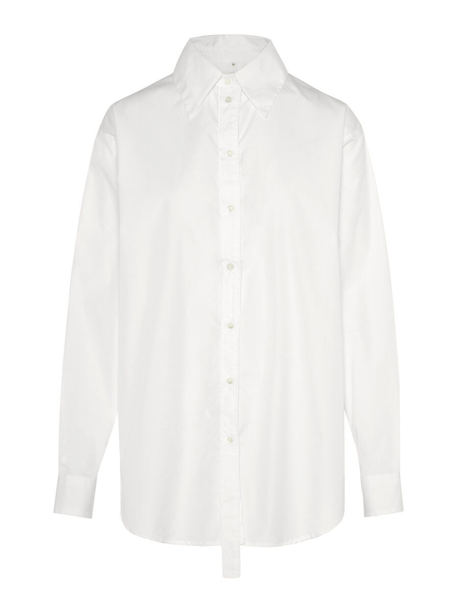 P O S T Y R Oversized Tailored Shirt Women White
