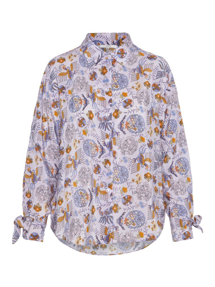 P O S T Y R Phoenix Pattern Shirt Women purple