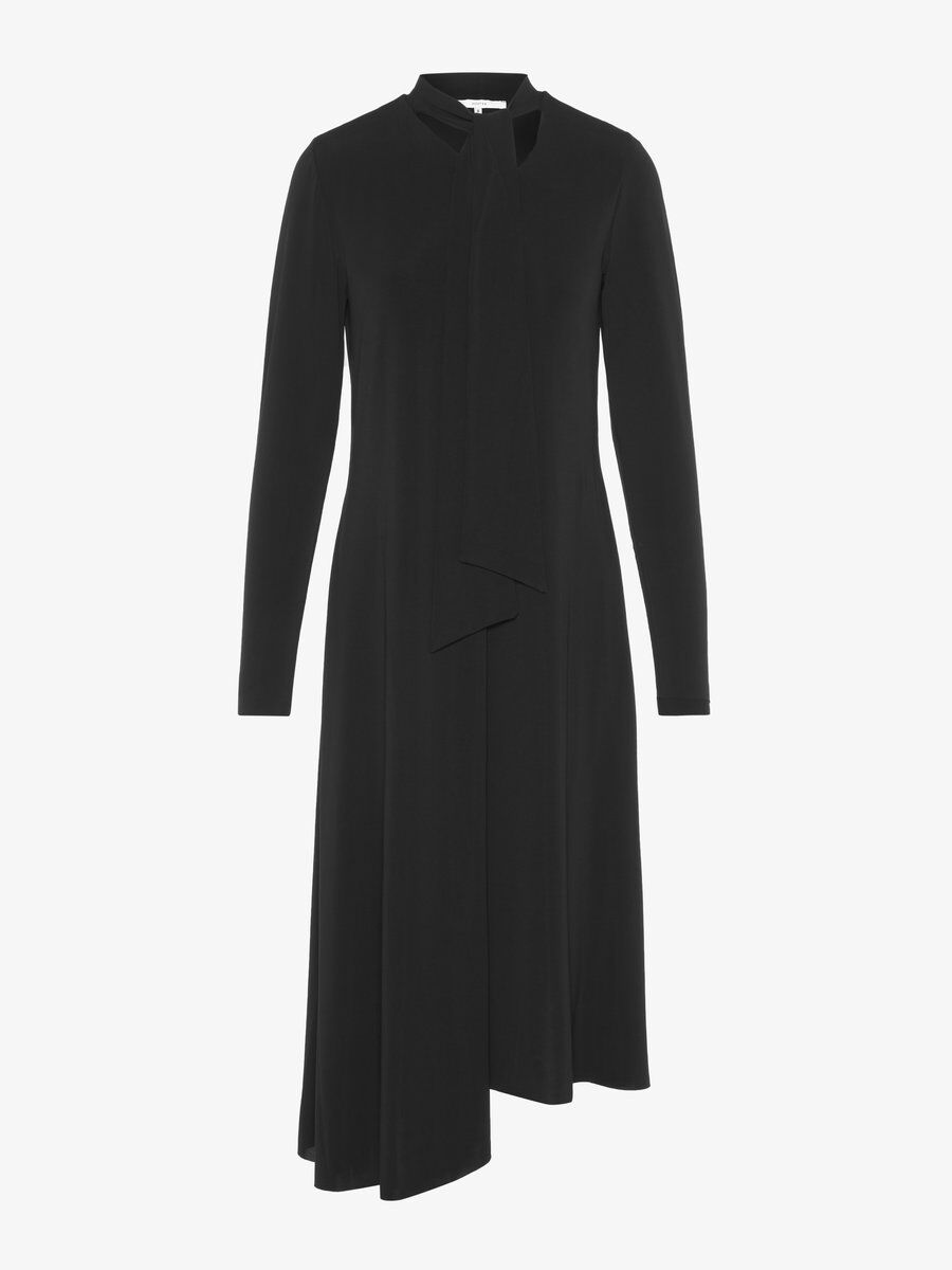 P O S T Y R Tie-neck Midi Dress Women black