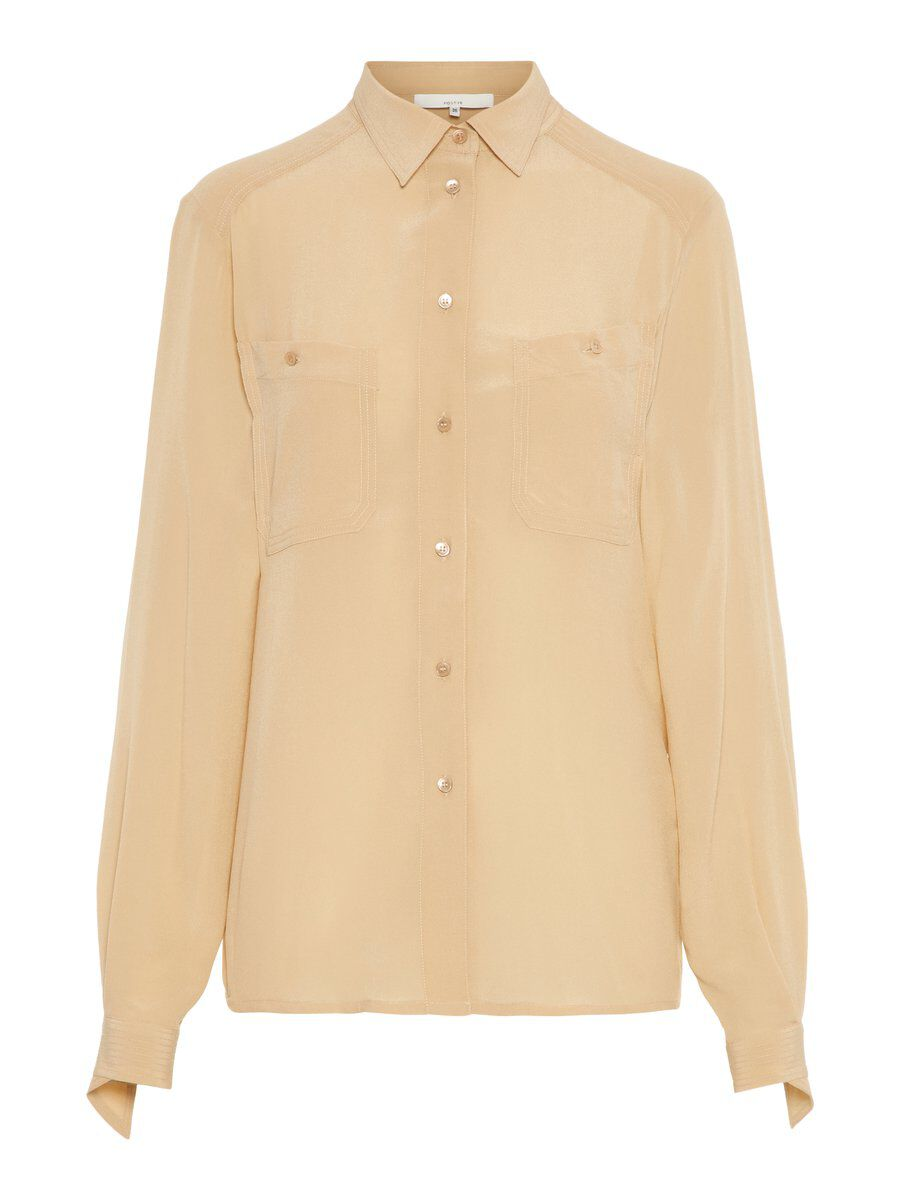 P O S T Y R Lightweight  Silk Shirt Women beige