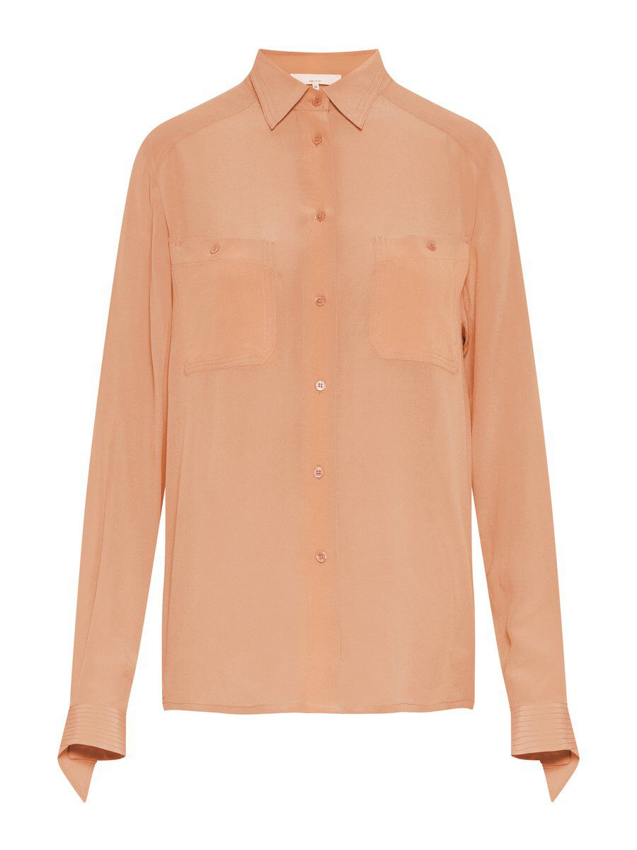 P O S T Y R Lightweight  Silk Shirt Women orange