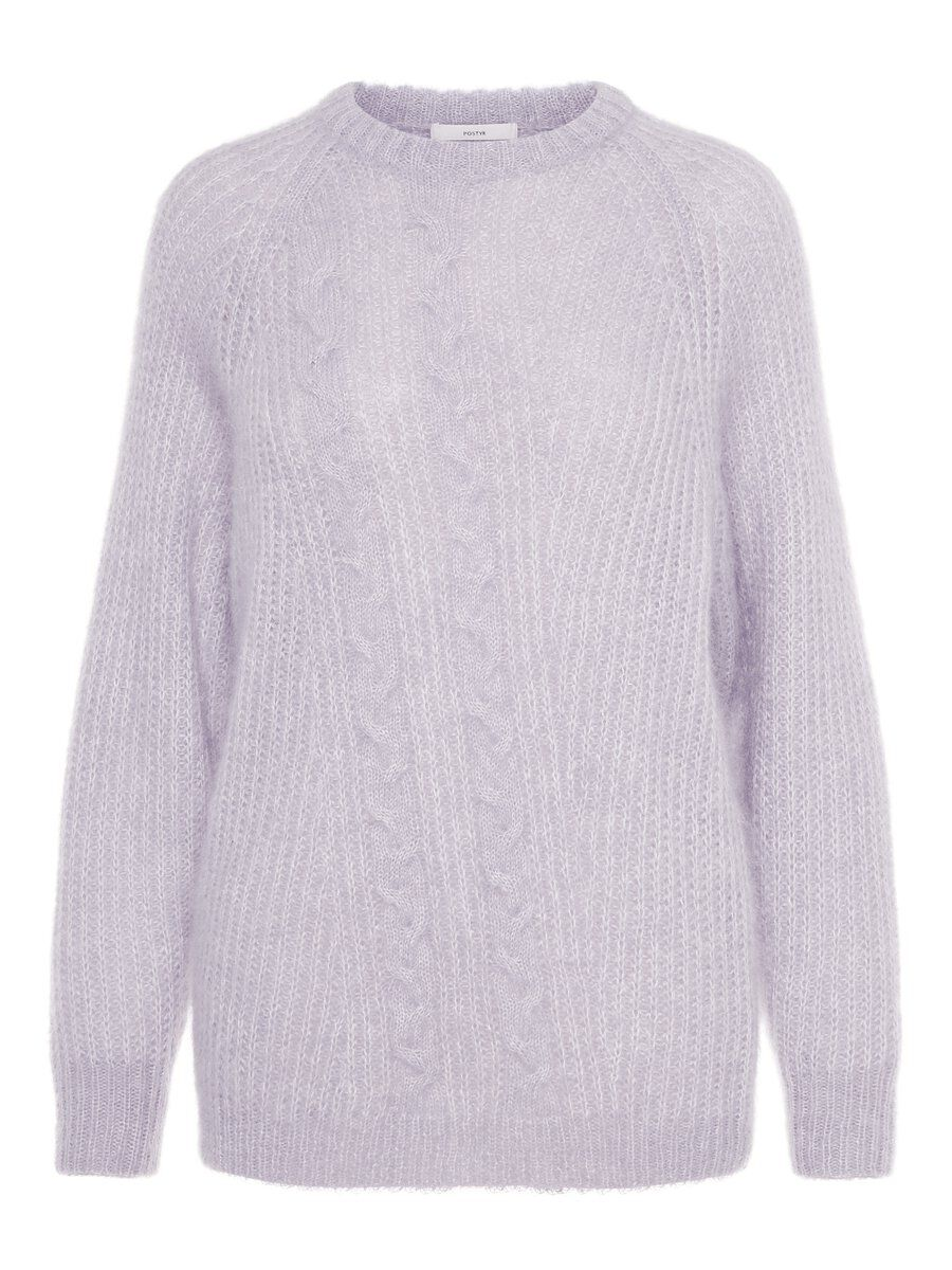 P O S T Y R Cropped Knitted Jumper Women purple