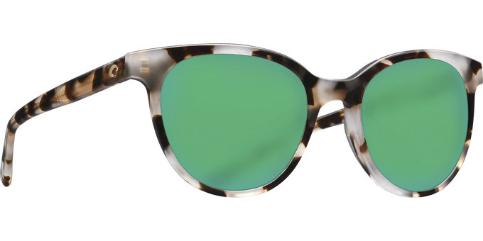 Del Mar Collection - Isla Polarized Sunglasses - Shiny Tiger Cowrie - Polarized 580 Green Mirror Lenses